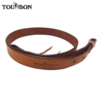 Tourbon Hunting Gun Accessories Leather Rifle Sling Shotgun Belt Shoulder Belts Brown Gun Strap 92CM for Shooting