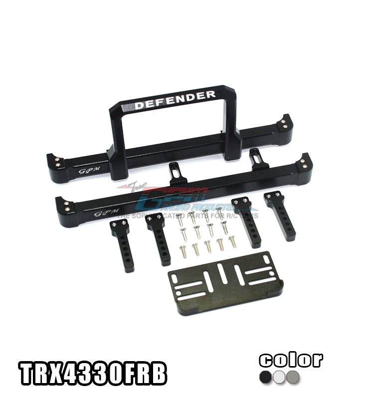 TRAXXAS TRX-4 TRX4 82056-4 Aluminum alloy front + rear bumper for RC car stable (on road street fighter) - set TRX4330FRB traxxas trx 4 trx4 82056 4 alloy adapters front rear all can use hex 17mmsix angle 19mm long set trx4 17x19 2