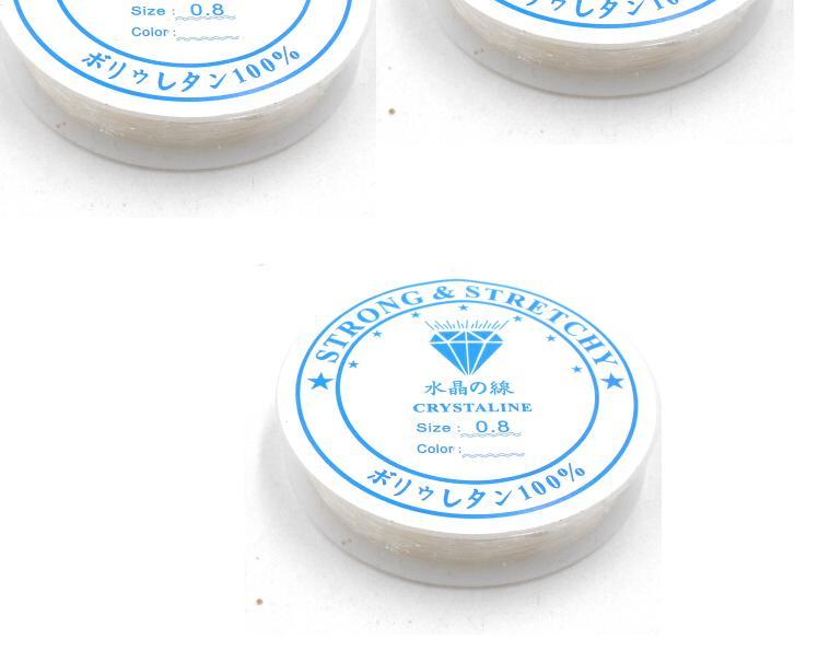 Ролл Высококачественные эластичные со стразами веревочный Шнур темы для DIY браслет заключений ювелирных изделий 0,5/0,6/0,7/0,8 /1 мм