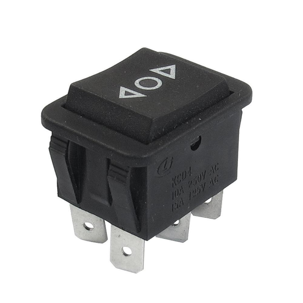 on-off-on Black Round Rocker Switch SPDT Center Off 22mm 12V  Waterproof Cap