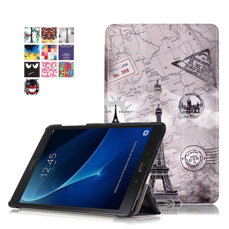 цены For Samsung Galaxy Tab A 10.1 2016 T580 T585 T580N T585N Luxury Stand Folio Flip PU Leather Skin Magnetic Smart Sleep Cover Case