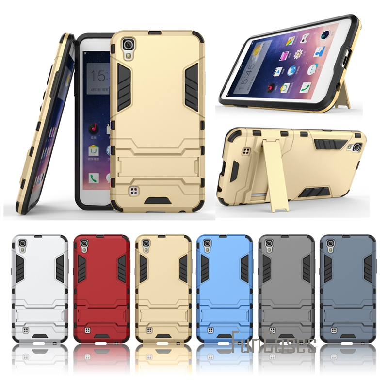 Case for LG X Power Armor Rising Stars Phone Bags Kickstand Back Cover Case for LG X Power Case PC 2 in 1 Anti Knock Stand Coque
