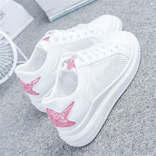 New summer wild flat sports shoes womens breathable mesh floor blank sneakers Zapatillas de deporte
