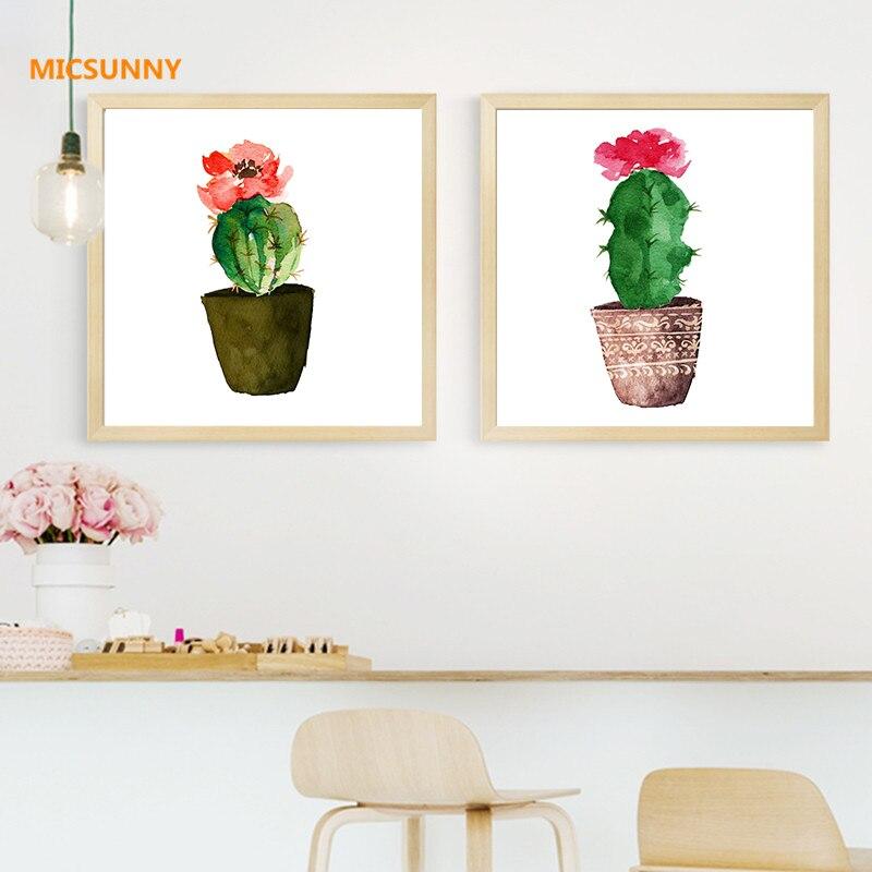 Micsunny stile nordico cactus piante tropicali quadri su for Pittura moderna soggiorno