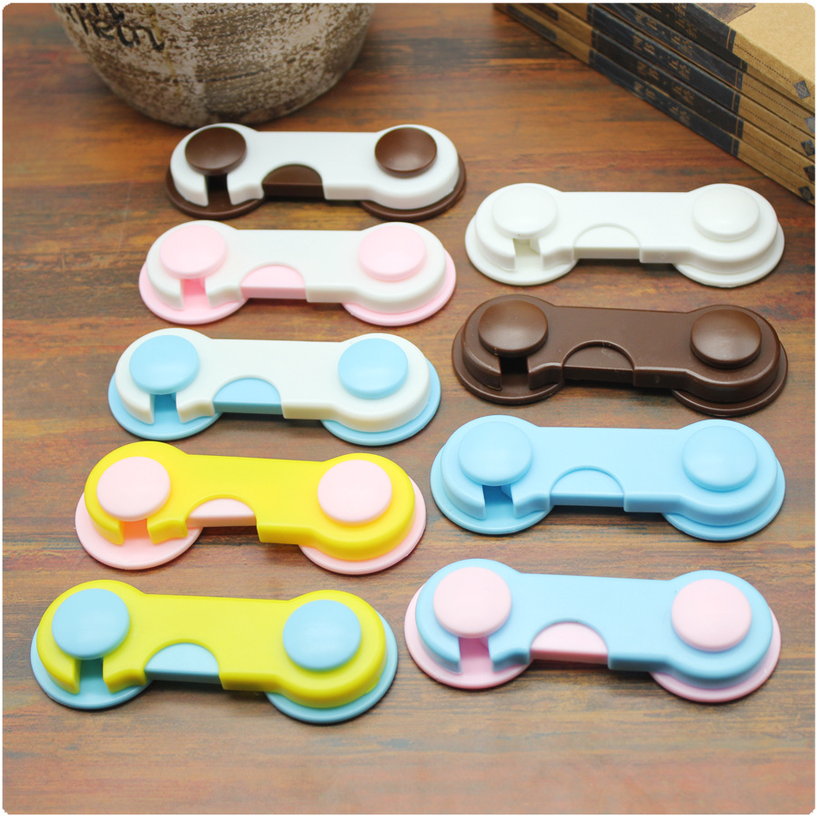 4pcs Plastic Cabinet Lock Child Safety Baby Protection From Children Safe Locks For Refrigerators Baby Security Drawer Latches