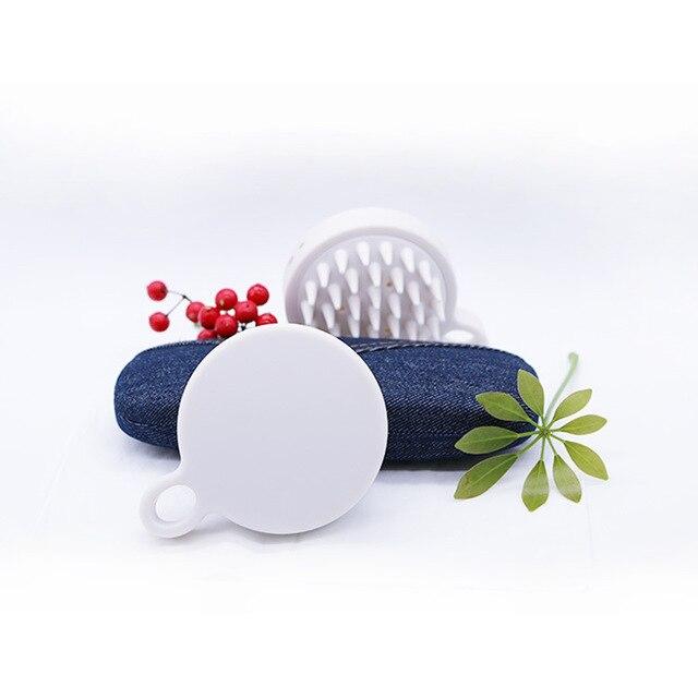 Brosse de massage en silicone souple brosse de massage nettoyage du cuir chevelu peigne de massage de santé masseur multifonction