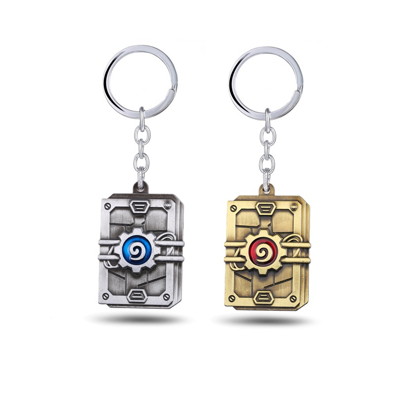 Game Series Hearthstone Ver. Key Chain Metal Pendant Toy With Key Chains Key Ring Great Gift For Boys
