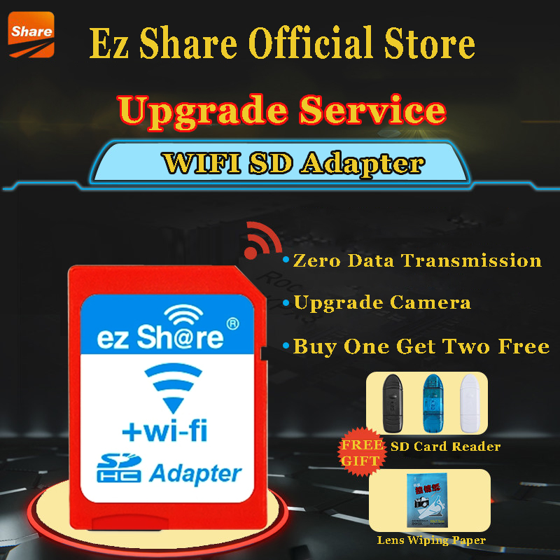 Ez Share Wireless Sd Card Reader Micro Sd Memory Card Adapter available for DC / DV / DSLR / DPF ...