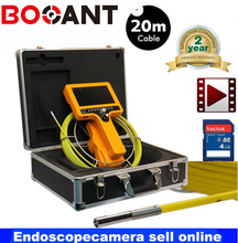 30m 7″ TFT LCD Video Inspection Endoscope Pipe Snake Scope Camera Borescope with DVR Recording with 6mm camera