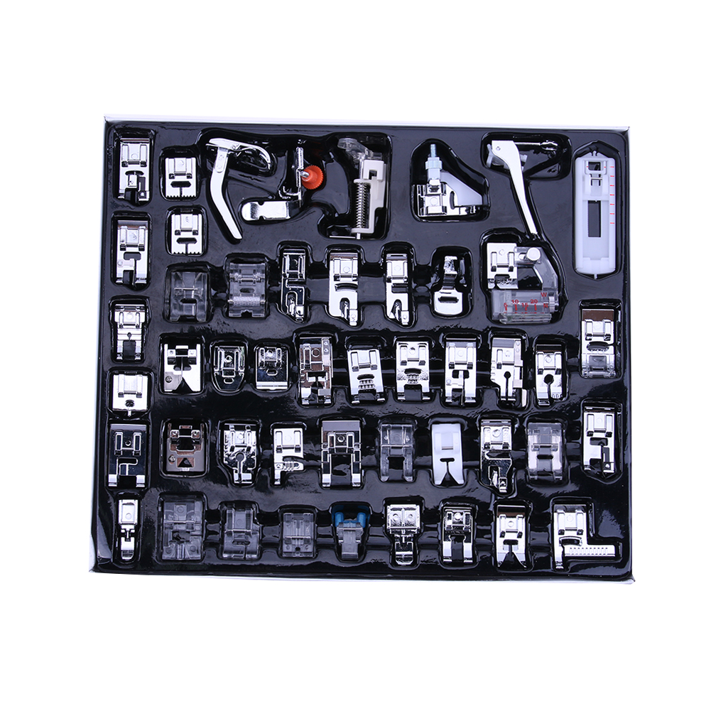 Pcs Para Cantor Irmão Janom 48 Multifunções Trançar o Ponto Cego Da Máquina de Costura Doméstica Calcador Darning Pé Pés Kit Set