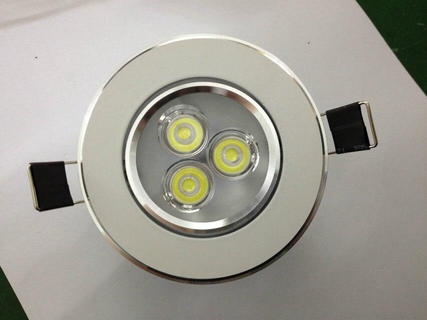 2017 Lâmpada Led Spot Teto Frete Grátis: new Style, 3*1 w Para Baixo a Luz,, ac95-265v,/Iluminação, com Alto Brilho, frete Grátis