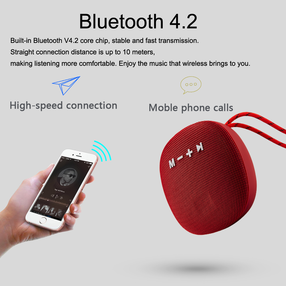 Wireless Bluetooth Speaker Waterproof Mini Portable Stereo sound bar music Outdoor Handfree Speaker For iPhone xiaomi Phones in Portable Speakers from Consumer Electronics