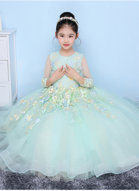 Glizt Girls Wedding Dresses 2017 New Light Blue Tulle Princess ...