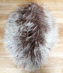 Image 5 - Col en fourrure mongole, écharpe, châle, écharpe, châle, en véritable laine mongole, XX Large, en solde
