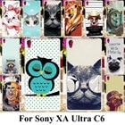 Taoyunxi Silicone Plastic Phone Cover Case For Sony Xperia XA Ultra Dual F3212 F3216 F3211 F3215 F3213 C6 Cat Bag Shell