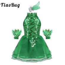 556142b0a2f42 TiaoBug niños niñas sin mangas brillantes lentejuelas de Ballet Tutu  vestido niño escenario de baile de Jazz traje vestido de ma.