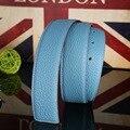 (Sem Fivela, Apenas Cinto) Moda Unissex Couro Genuíno Cintos Para As Mulheres Cintos de Grife Homens de Alta Qualidade de Couro cinto de Luxo