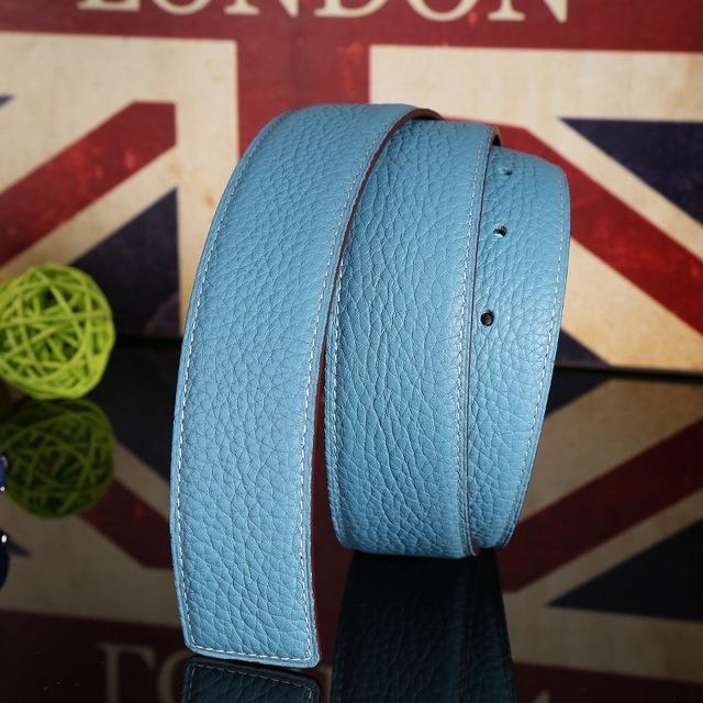 (Sin Hebilla, Sólo La Correa) Moda Unisex Cinturones de Cuero Genuino Para Las Mujeres Cinturones de Diseño Hombres de Alta Calidad de Cuero cinturón de Lujo