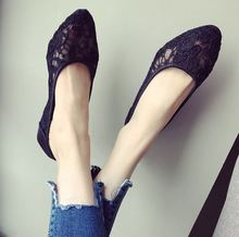 2019 New Women Flats Shoes Ballet Flats Fashion Slip On Lace Flat Women Shoes Sweet Hollow Summer Female Shoes Casual Shoes Plus
