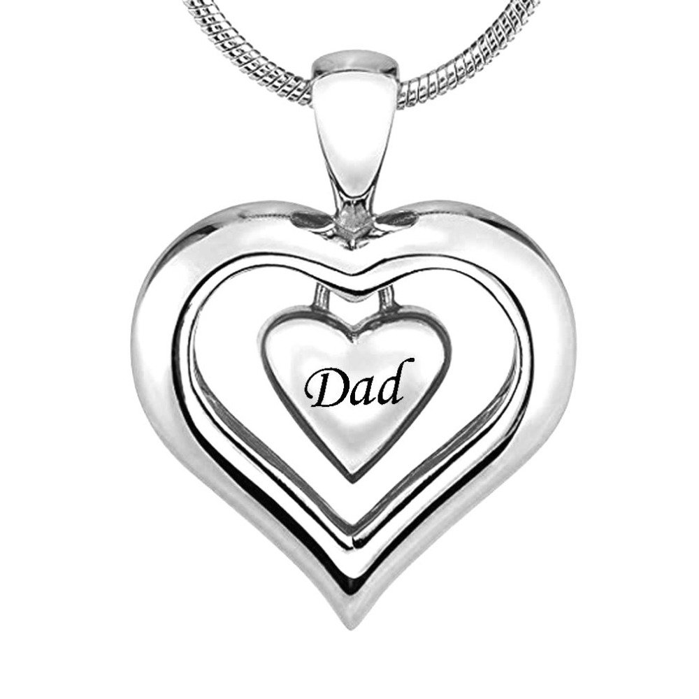 Silver Cremation Jewelry Eye Of God In Heart Pendant Memorial Urn Necklace