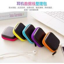 Hot Sale Black Fiber Zipper Headphones Earphone Earbuds Hard case Storage Carrying Pouch bag SD Card