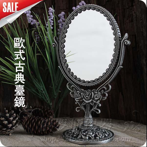 double face Magnify imaging desktop makeup mirror with frame decorative table mirrors wedding decorative HZJ011
