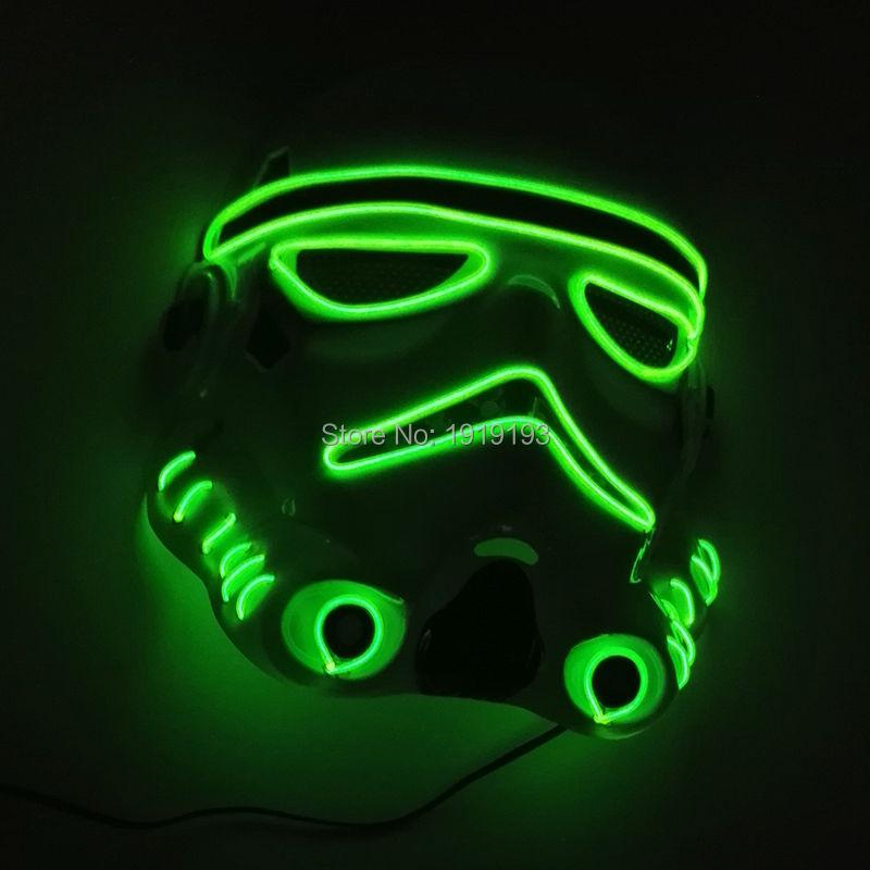 Divertido Brillante Moive of Star Wars EL Intermitente EL tubo de cuerda de alambre LED máscara de iluminación de vacaciones de Halloween para la Fiesta de Decoración de Navidad