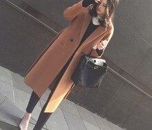 Grey Wool Coat With Belt 2018 Autumn Winter Camel Winter Coat Warm