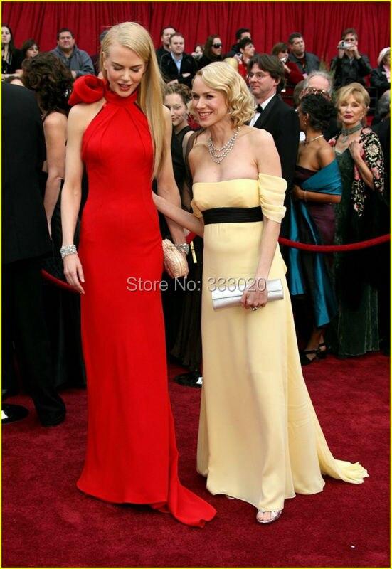 Nicole Kidman Red Halter Formal Dress Oscar Awards 2007 Red Carpet (9)