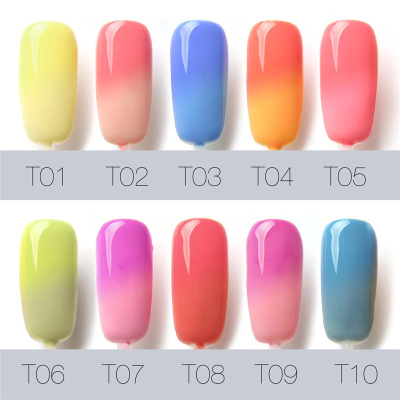 Uv Gel Nail Polish Temperature Color Change Uv Gel Color Nails ...