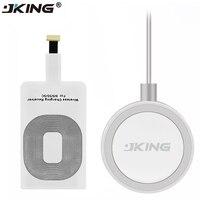 JKING 1Set Qi Drahtlose Ladegerät + Wireless Lade Empfänger Pad Spule Für IPhone 5 5S 5C SE 6 6S 7 S Plus