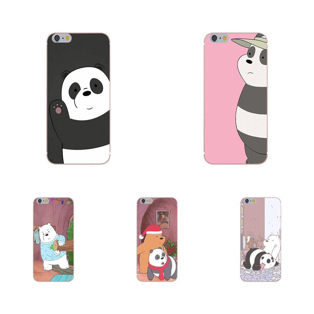 TPU Mobile Phone We Bare Ice Bear Panda White For Xiaomi Mi6 <font><b>Mi</b></font> 6 A1 Max Mix 2 5X 6X Redmi Note 5 5A 4X 4A <font><b>A4</b></font> 4 3 Plus Pro image