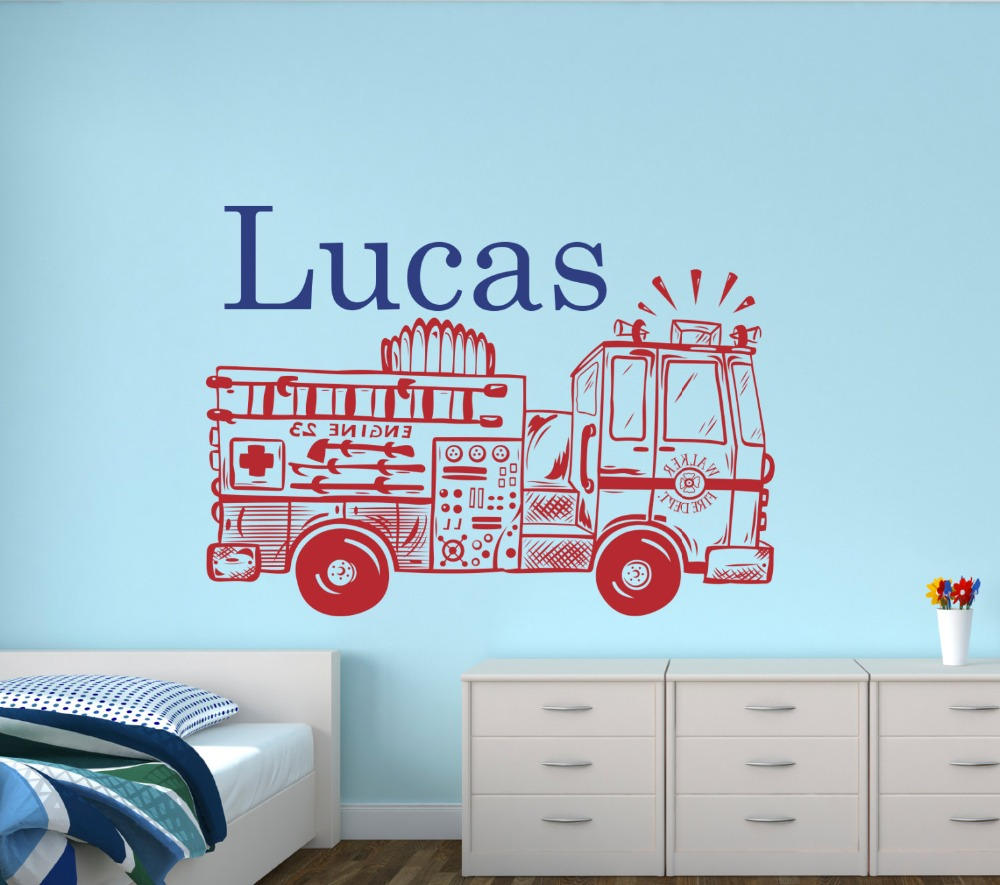 Cute Design Truck With Personalized Bots Name Nursery Name ...