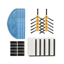 Yan fırça HEPA filtre paspas bezi ecovacs deebot için 600 601 605 710 711 715 elektrikli süpürge robotik robotlu süpürge parçaları fırçaları
