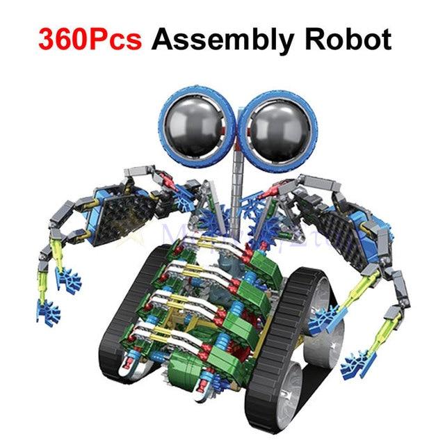 360Pcs  Large Size  LOZ Electrical Robot Puzzle Assembly Bricks DIY Toy For Kids Children