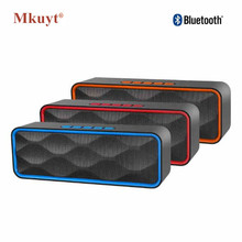 MKUYT SC211 Wireless Portable Bluetooth FM Speakers Outdoors Hands Free Speaker TF Card USB Stereo Music Sound Box