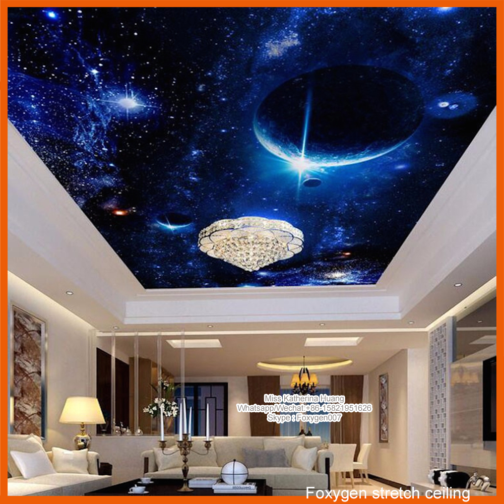 2017 pop night sky pvc stretch ceiling design for wall and ceiling ...