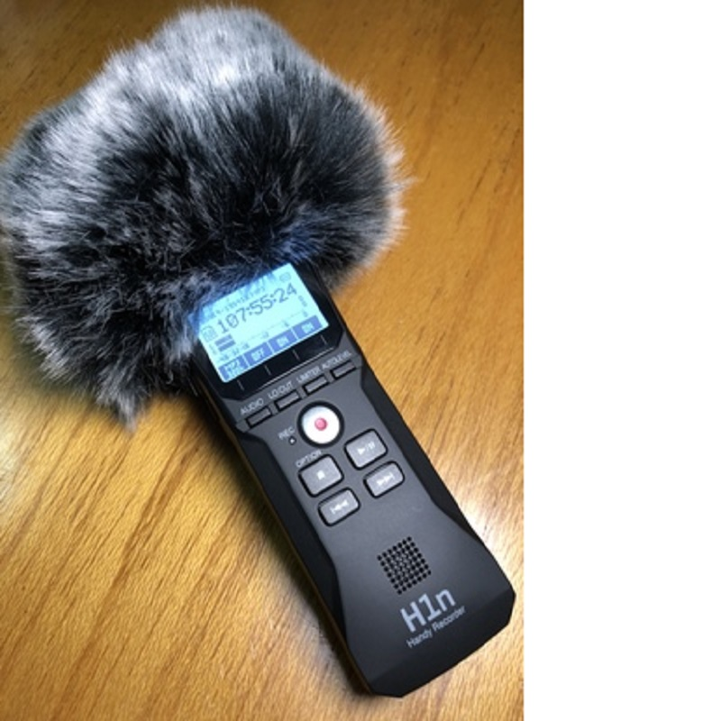 Deat Cat Outdoor Microphone Cover Artifical Fur Wind Muff Windshield For Zoom H1 Wind Muffler Windscreen For Zoom H1 Blue Mantis