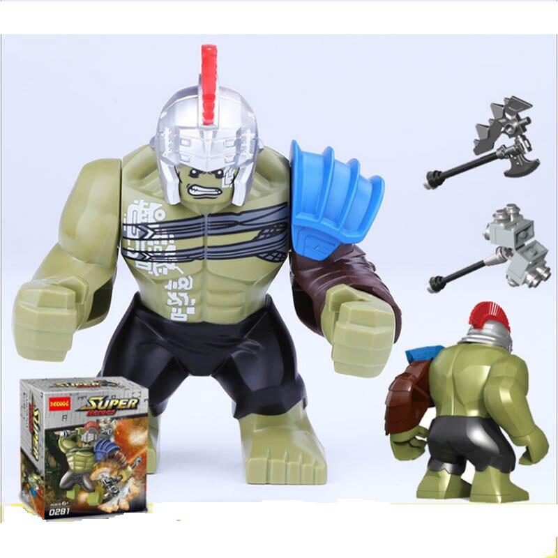 Single Sale LegoINGlys Super Heroes Big Size Hulk Sinetro Venom Thanos Carnage Black Dwarf Mini Figures Blocks Toys Boys GIFT