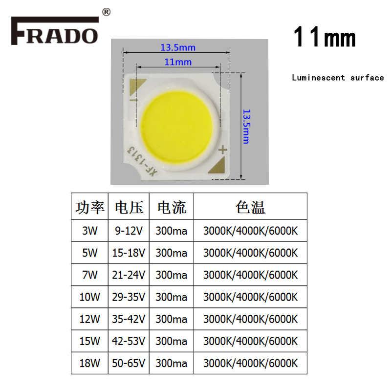 Высокомощный светодиодный чип 3W 5 Вт 7 Вт 10 Вт 15 Вт 20 Вт 24 Вт 30 Вт интегрированный SMD COB бисер Теплый/натуральный белый светодиодный прожектор