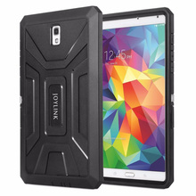 Samsung Galaxy Tab S 8.4 inç koruyucu kabuk kılıf Joylink dahili ekran koruyucu kapak siyah