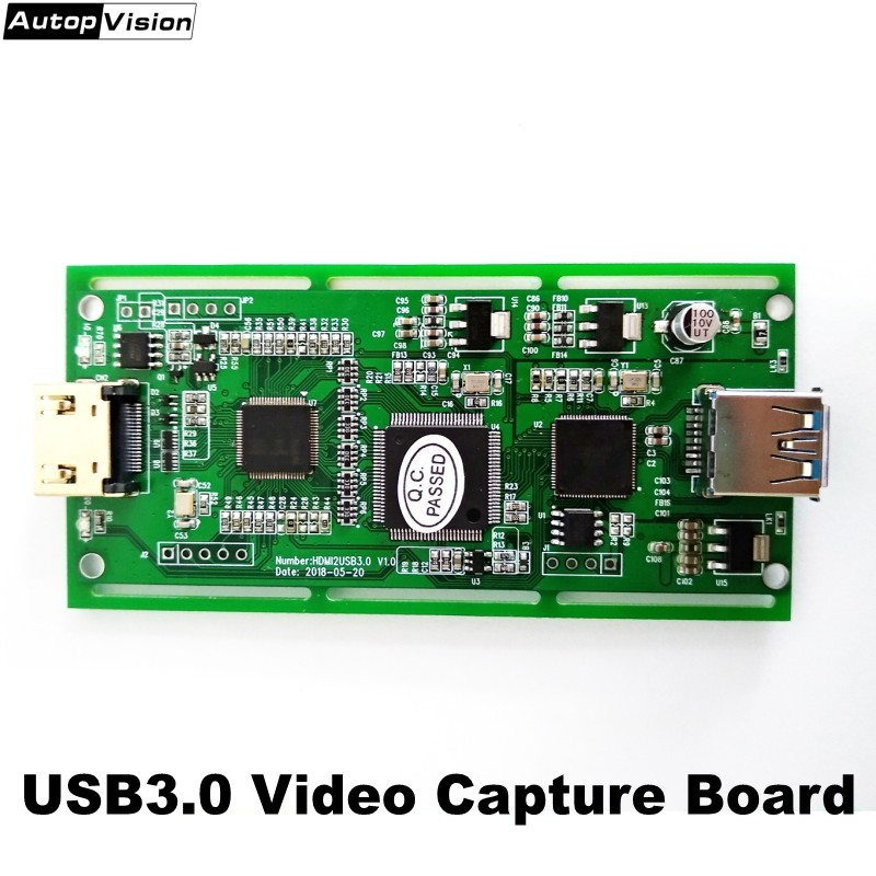 Factory Direct 10pcs/lot VC30 USB3.0 Video Capture Card Box board support 720P/1080/2K HDMI input Windows Linux IOSX Android