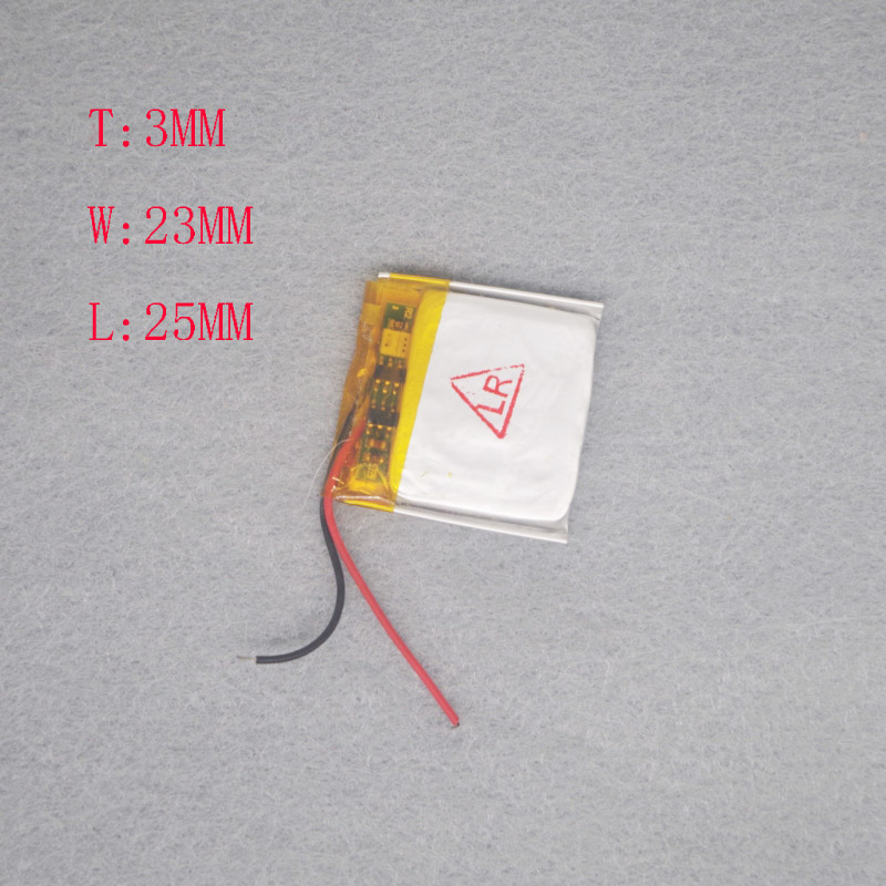 3.7 V Polymer lithium rechargeable battery 302325/<font><b>302525</b></font> MP3 Bluetooth headset / equipment/micro image