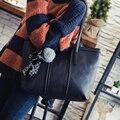 4 colores de Las Mujeres Ocasionales Bolsos de Hombro de las Mujeres Grandes Bolsas para Bolso de las señoras de Gran Capacidad femme sac a principal de marca Retro