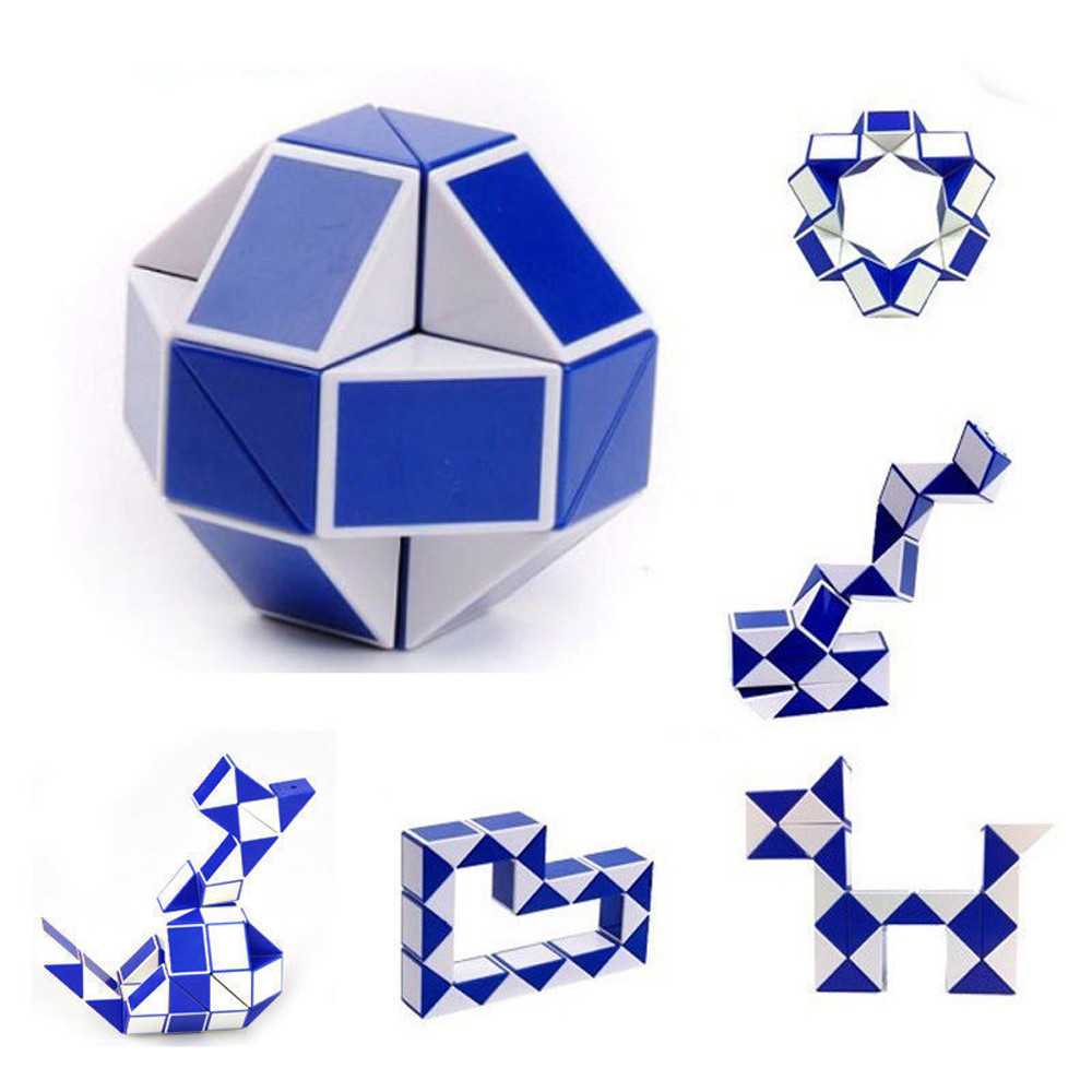 Magic Ruler Kids Educational Toys Magic Snake Cube Segment Diy Puzzle Toys Creative Gifts For Children-25 Puzzles & Games Toys & Hobbies