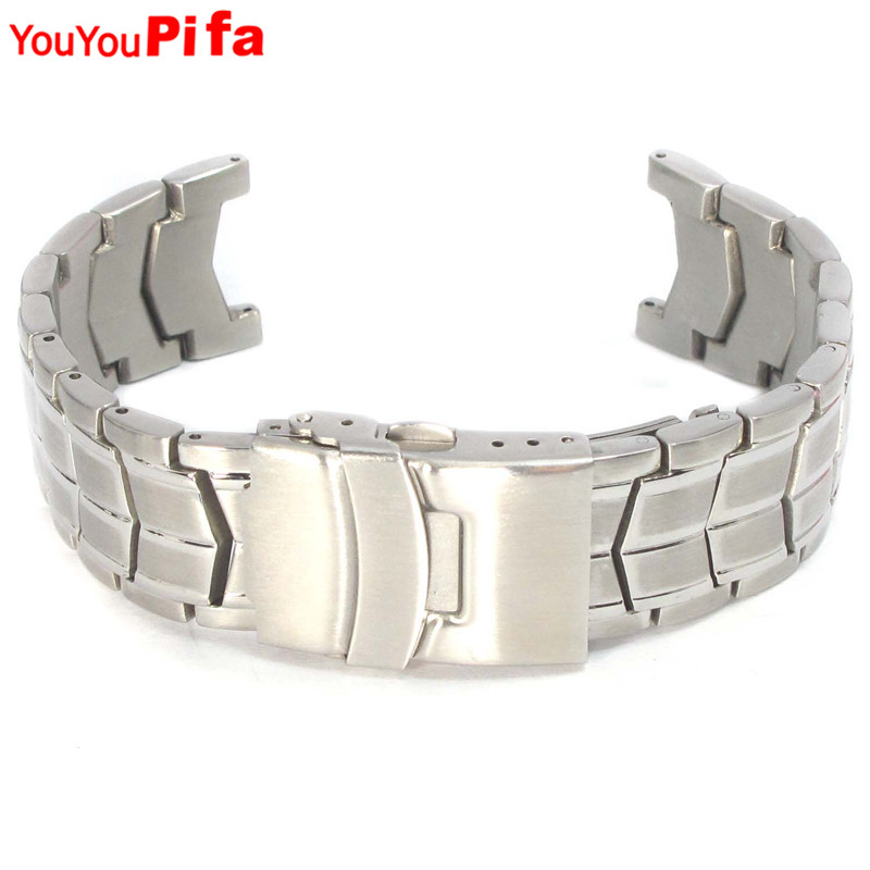 11mm 14mm Socket Connector Stainless Steel Men Watch Strap Replacement Metal Clasp Women Watchband 22mm Bandwidth Watch Band