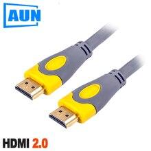 AUN 1,5 m, 3 m HDMI versión 2,0 cobre libre de oxígeno Cable HDMI. Apoyo 3D, 1080 p, 2 K, 4 K para AUN proyector, TV, Monitor HD
