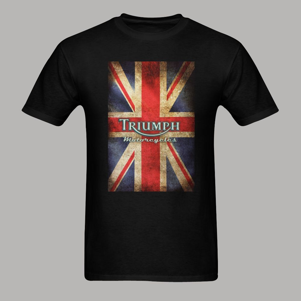 triumph motorcycle biker england flag classic logo tshirt homme harajuku style shirt camiseta. Black Bedroom Furniture Sets. Home Design Ideas