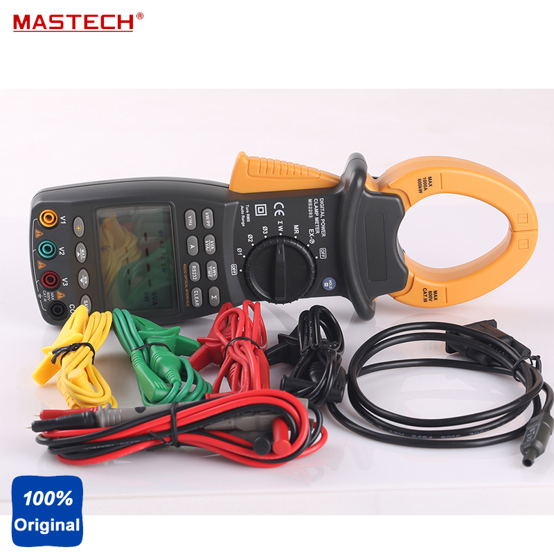 MASTECH MS2203 3-Phase Digital Power Factor Correction Clamp Meter Tester RS232 KVAR KWh цена