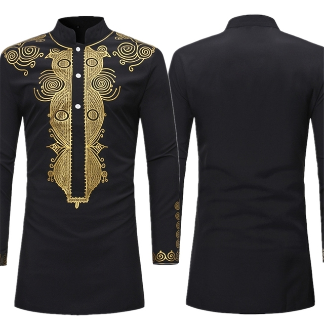 New Men African Clothes Print Rich Bazin Fashion Traditional  Africa Dress For Man Dashiki Clothing